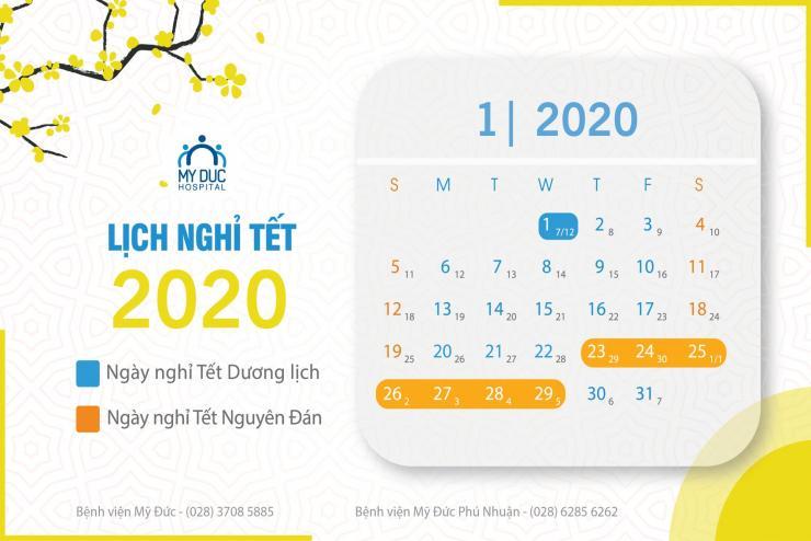 Lịch nghỉ Tết Dương Lịch 2020 và Tết Nguyên Đán Canh Tý